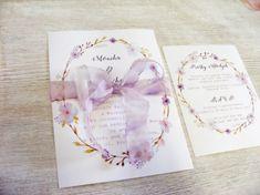 Zaproszenia ślubne botaniczne wianek W2