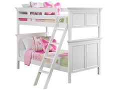 Slumberland | Persia Collection - White Twin/Twin Bunk Bed