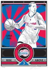 "Limited-edition handmade screen print on paper featuring #ChrisPaul from the LA #Clippers. Limited edition of 200. Each print is signed by artist Chris Speakman and individually numbered on 100% cotton, archival Stonehenge brand paper - size is 17""x21"". This collectible is great for autographs and adds a touch of class to any sports fans wall."