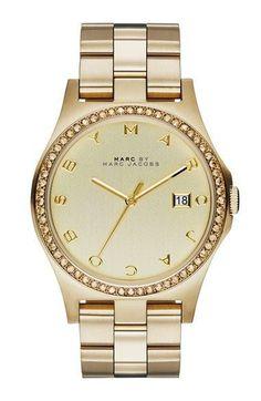 Montre pour femme : MARC BY MARC JACOBS Henry Crystal Bezel Bracelet Watch 40mm | Nordstrom