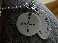 Mens Brushed Aluminum Necklace-Valentines Gift-Birthday Gift-Anniversary Gift-Boyfriend Gift. $25.00, via Etsy.