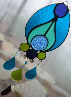 PEACOCK FEATHER Stained Glass PanelSun by mistymountainglass, $65.00