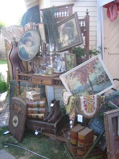 One Lucky Day --When I find lots of treasures junking at antique and thrift stores