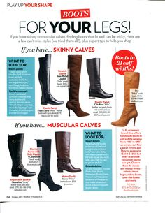 Boots for skinny calves - People Stylewatch