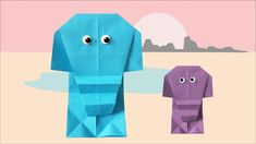 These cute elephants you can tinker easily. Simple step by step guide to fold an origami elephant. Diy Origami, Cute Elephant, Step Guide, Canning, Elephants, Simple, Art, Fashion Styles, Easy Origami