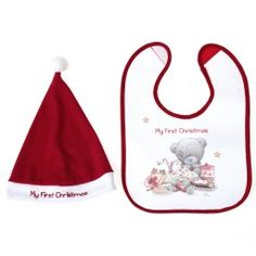 3d76c27e09a Tiny Tatty Teddy My First Christmas Bib   Hat Set My First Christmas