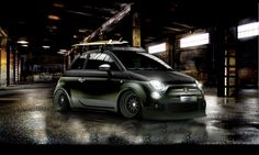 Tribe's SEMA FIAT 500: Saw this little powerhouse at SEMA 2012. Looks great with the fuel door plated by #APCchrome.