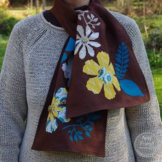 Tattered Florals scarf featuring the NEW Jumbo Tattered Florals and Garden Greens die by Amy Friend.