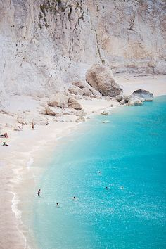 Porto Katsiki on the Ioanian Sea island of Lefkada is one of the most famous beaches in Greece