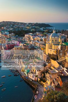 Vertical View of Marina Corricella, Procida, Gulf of Naples, Campania, Italy.  – Image © Siephoto / Masterfile.com: Creative Stock Photos, Vectors and Illustrations for Web, Mobile and Print