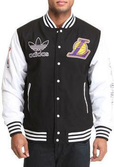 Adidas los angeles lakers classic varcity jacket $133.99