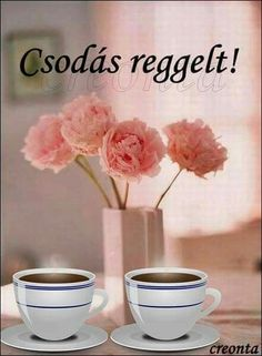 Good Morning Good Night, Coffee Time, Diy And Crafts, Place Card Holders, Breakfast, Sweet, Food, Hungary, Mornings