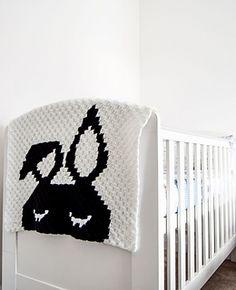Lazy Bunny Blanket - free C2C crochet pattern by Linen Leaf.
