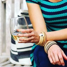 Hope everyone is enjoying their weekend! We'll be out and about in town tonight for #NWF16 (#repost from last year because I love this shot!) #nantucketbracelets