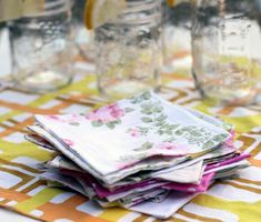 DIY: vintage sheet napkins