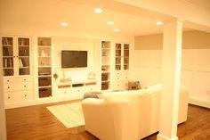 a basement update tour, basement ideas, doors, home decor, IKEA built in wall