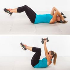 Triceps Crunch - Shrink Your Muffin Top! Fat-Blasting Workout - Shape Magazine - Page 8 Fitness Diet, Fitness Motivation, Health Fitness, Fitness Fun, Weight Loss Secrets, Best Weight Loss, Muffin Top, Thing 1, Get In Shape