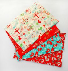Simple DIY Christmas Placemats from Fat Quarters