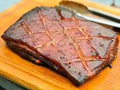 Grilling: Smoked Pork Belly Marinated in Char Siu Sauce