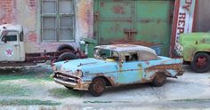 Revell 1957 Chevy Bel Air Coupe 1/24 1/25 for Junkyard Diorama #Revell