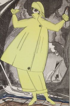 José ZINOVIEW Gros temps. Costume for yachting (pl.42, La Gazette du Bon ton, 1920