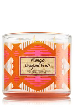 Mango Dragon Fruit 3-Wick Bath & Body Works Candle | The ultimate tropical fruit blend of rare and refreshing dragon fruit mixed with juicy mango