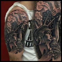 Statue of Liberty Tattoo by @torok_tattoo_art