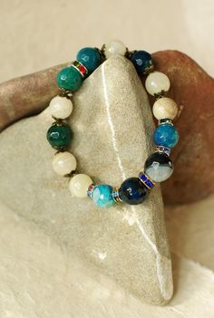 Blue agate & pearls