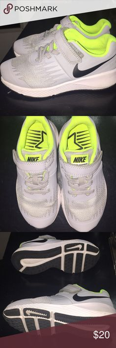 Boys Nike star runner shoes Brand new boys Nike star runner shoes still New at bottom. Worn once and decided he rather his pj masks shoes😒 Nike Shoes Sneakers