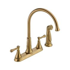 The Delta Cassidy Side Sprayer Kitchen Faucet in Venetian Bronze comes with ADA compliant lever handle for precise temperature and volume control. This kitchen faucet includes matching finish side spray. Faucet Handles, Kitchen Handles, Delta Cassidy, Bronze Kitchen, Kitchen Sink Faucets, Bathroom Faucets, Bathrooms, Side, Delta Faucets