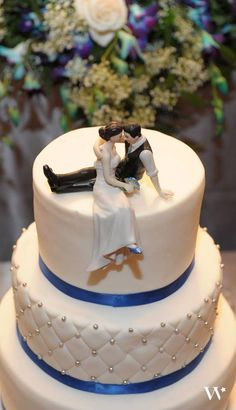"""A big thanks to Vanessa for sharing her beautiful shot of our """"Look of Love"""" wedding couple cake topper at the Knot. If you love this topper, you can buy it here http://www.weddingfavorsunlimited.com/the_look_of_love_wedding_cake_topper.html"""
