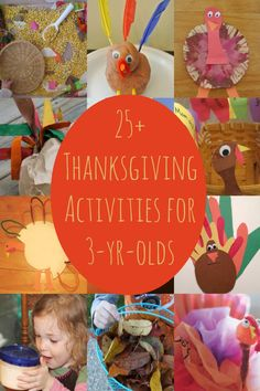 25 Thanksgiving Activities for 3 Year Olds featured on Kids Activities Blog - pinned by @PediaStaff – Please Visit ht.ly/63sNt for all our pediatric therapy pins