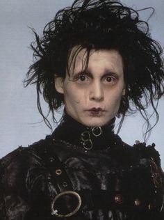 Johnny Depp Characters, Johnny Depp Movies, Movie Characters, Johnny Depp Willy Wonka, Tim Burton Characters, Eduardo Scissorhands, Johnny Depp Edward Scissorhands, Edward Scissorhands Makeup, Johnny Depp Personajes