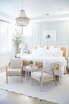 Coastal Master Bedroom, Coastal Bedrooms, Home Bedroom, Bedroom Ideas, Bedroom Inspo, Beach Bedrooms, Bedroom Modern, Master Bedrooms, Bedroom Inspiration