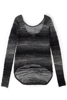 Black And White Sheer Knitted Jumper by Helmut Lang
