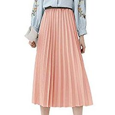 5 Fab Midi Skirts that will Take You from the Office to the Beach – Chasing Summers Dressy Summer Outfits, Summer Outfits Women, Outfit Summer, Summer Office Wear, Summer Wear, Pink Pleated Midi Skirt, Midi Skirts, Summer Skirts, Summer Dresses