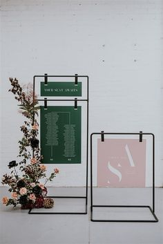Welcome Sign and Seating Chart stand hire for events in Melbourne Vic Event Signage, Wayfinding Signage, Signage Design, Wedding Signage, Retail Signage, Display Design, Booth Design, Store Design, Design Design