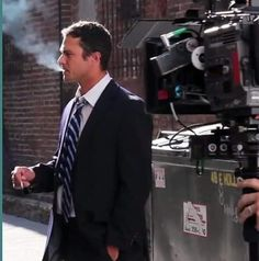 "Taylor Kinney on Instagram: ""💨"" Taylor Kinney, Chicago Fire, Season 7, Firefighter, Suit Jacket, Jackets, Instagram, Fashion, Down Jackets"