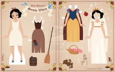 Snow White Paper Doll 2 by ~Cor104  Making a paper doll book for B