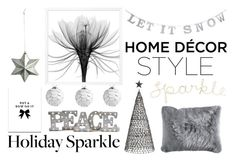 """""""Deck the Halls for Your Holiday Party"""" by eva-jez ❤ liked on Polyvore featuring interior, interiors, interior design, home, home decor, interior decorating, Nordal, SS Print Shop, Grandin Road and Pier 1 Imports"""