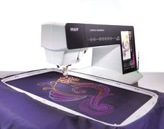 PFAFF Creative Sensation Sewing & Embroidery Machine. Oh to have this gorgeous machine stitching out an embroidery, cut-work design or Yarn Couching pattern while I work away on another machine. One day!     http://www.pfaff.com/ca/en/31398_31462.html