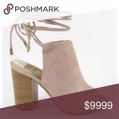 COMING SOON💕 Lace up Booties Blush is the It color of the Spring/ Summer season. The gorgeous lace up booties will compliment any outfit. Pair with a white off the shoulder blouse to complete your look. Pre-order and save 10%. $46. Shoes Ankle Boots & Booties