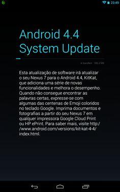 Android Kit-Kat 4.4 no Nexus 7