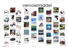 vervoermiddel plaat Learn Dutch, Dutch Language, School Info, Teaching Materials, Good Company, Spelling, Netherlands, Preschool, Poster