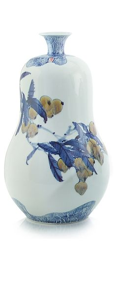 Chinese Blue & White Porcelain Gourd Vase, Modern Art on Classic Design, Beautiful Interior Design Project Fillers, one of over 3,000 limited production interior design inspirations inc, furniture, lighting, mirrors, home accents, accessories, decor and gift ideas to enjoy repin and share at InStyle Decor Beverly Hills Hollywood Luxury Home Decor enjoy & happy pinning