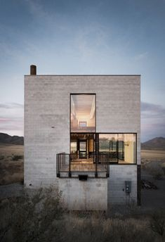Concrete cube house