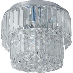 Crystal Prism Flush Ceiling Light - Silver | Lighting ideas ...