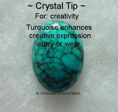 Crystal tip for creativity. Crystals stones rocks magic love healing - promove o… Crystals Minerals, Gems And Minerals, Crystals And Gemstones, Stones And Crystals, Gem Stones, Crystal Magic, Crystal Grid, Crystal Palace, Reiki