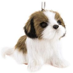 Dog With Fur Ornament