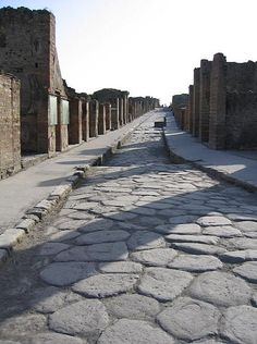 The ancient ruins of Pompeii, ITALY.